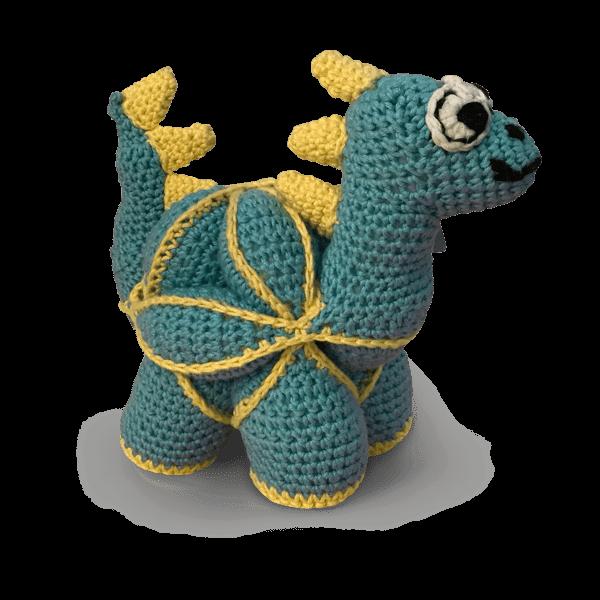 El örgüsü yapboz oyuncak dinozor